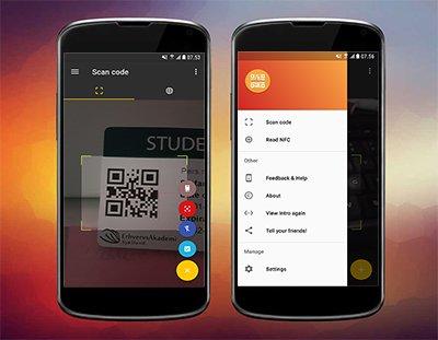 Android app til at scanne QR, NFC & alm. stregkoder